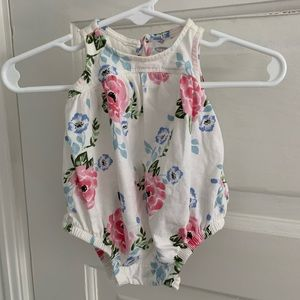 Floral bubble sunsuit